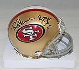 Tom Rathman & Roger Craig Autographed Signed San Francisco 49ers Mini Helmet Coa – Autographed NFL Mini Helmets