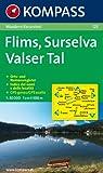 Flims - Surselva - Valser Tal: Wanderkarte mit Orts- und Namensregister. GPS-genau. 1:50000