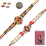 Little India Jodhpuri Style Fashionable Fancy Design Rakhi Pair Gift 406