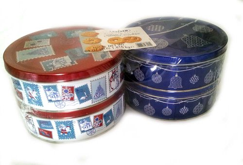 Kelsen Danish Butter Cookies Christmas Thanksgiving Holiday Cookie Gift Present Four 1 Pound Tins