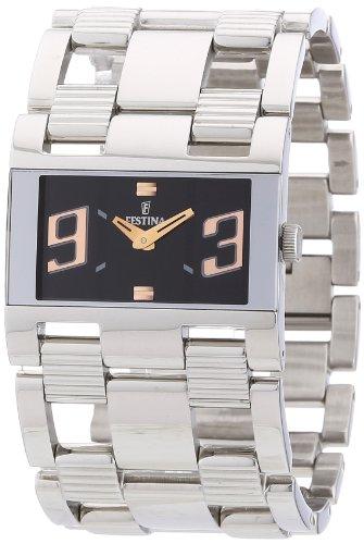 Festina F16326/4 - Reloj analógico de cuarzo para mujer con correa de acero inoxidable, color plateado