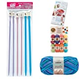 Knitting Basics Bundle with Knitting Needles, Knitting Loom, and Yarn