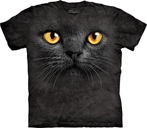The Mountain Maglietta Big Face Black Cat Pet Bambino Unisex L