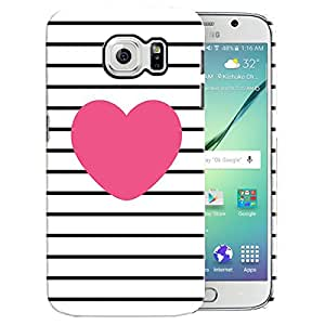 Theskinmantra Heart Black back cover for Samsung Galaxy S6 Edge Plus