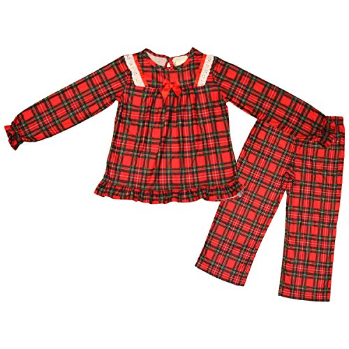 Red Plaid Flannel Toddler Holiday Pajamas