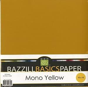 Bazzill Basics 12 by 12-Inch 25-Sheet Cardstock, Yellow Assortment