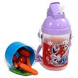Disney Rock N Sip N Snack Canteen Water Bottle for Kids (Purple (Frozen))