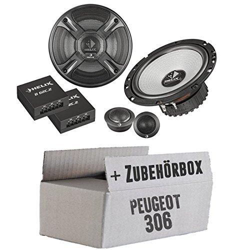 Peugeot 306 Front - Helix - B 62C.2 - 16cm 2-Wege Lautsprecher System - Einbauset