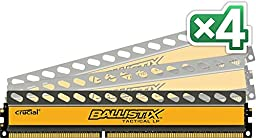 Ballistix Tactical Low Profile 16GB Kit 4GBx4 DDR3-1600 1.35V UDIMM 240-Pin Memory Modules BLT4K4G3D1608ET3LX0