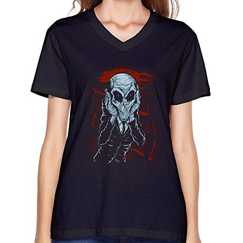 GLYCWH Women's A Scream Of Silence T-Shirt V Neck