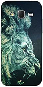 Snoogg Lion Fury Hard Back Case Cover Shield For Samsung Galaxy Grand Prime