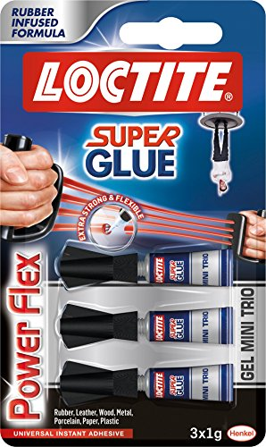 Loctite 1885734 Super colla 3 G Mini Trio Power Flex Gel - trasparente