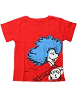 Bumkins Dr. Seuss Short Sleeve Toddler Tee, Red  Thing 1, 4T