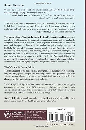 concrete pavement design construction and performance second edition delatte norbert j