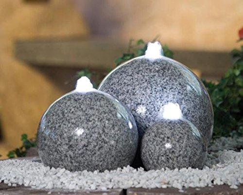 gartenbrunnen granit mit beleuchtung. Black Bedroom Furniture Sets. Home Design Ideas