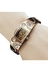 Soleasy Women's Bracelet Style Analog Quartz Metal Watch WTH1028