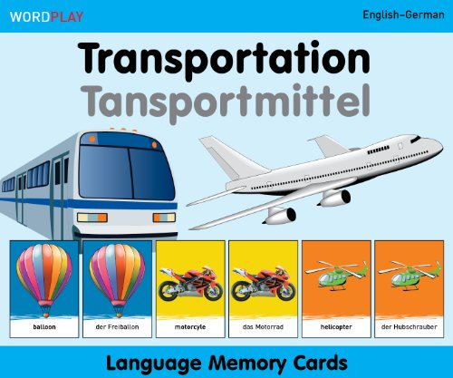 WordPlay Language Memory Cards–Transportation (English–German)