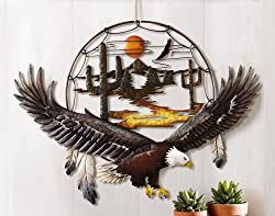 Southwest Eagle 3D Metal Wall Art