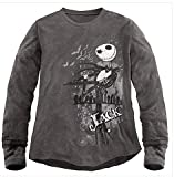 Disney Jack Skellington Thermal Tee for Men, Gray Thermal, 100% Cotton,long Sleeves