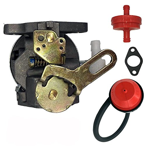 HOOAI Carburetor Carb for TECUMSEH CRAFTSMAN YARDMACHINES SEARS MTD SNOWBLOWER SNOWKING 5HP With Free Gasket & Primer Bulb & Fuel Filter & Fuel Line (Snow Blower Carb compare prices)