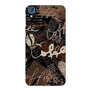 Stylish Coffee Coffee Multicolor Back Case Cover for HTC Desire 820s