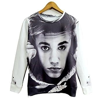 Amazon.com: Unisex Swag 3D Sweater Cool Justin Bieber Sweatshirt Shirt