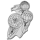 Stampendous Cling Rubber Stamp, Hot Air Trio
