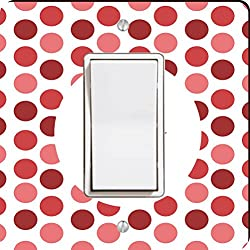 Rikki Knight World's Greatest Aunt Red Polka Dot Single Rocker Light Switch Plate