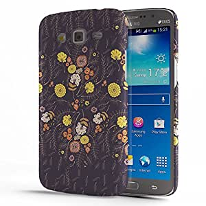 Koveru Back Cover Case for Samsung Galaxy GRAND 2 - Brown Yellow Pattern