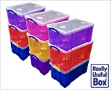 Asstd 64 Litre Really Useful Plastic Boxes ASSTD LOT 9 BOXES* £103.50* (£11.50 each) & FREE P&P - UK Mainland delivery only