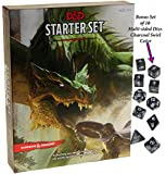 Dungeons & Dragons Starter Set _ with Bonus Charcoal Swirl 10 Piece Dice Set _ D&D Starter Set _ Bundle