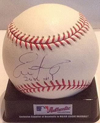 Evan Longoria Tampa Bay Rays Autographed Auto MLB Baseball - Certified Authentic #1 Pick - Certified Authentic