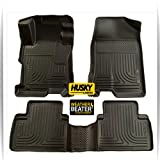 2005-2014 Toyota Tacoma Crew Cab Pickup Full Set Husky Liners Weatherbeater All Weather Custom Fit Floor Mat Liner