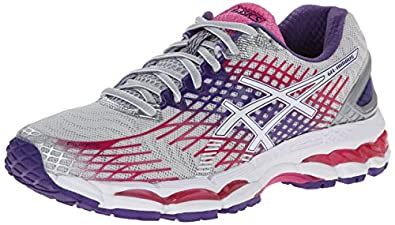 ASICS Women's Gel-Nimbus 17 Running Shoe,Lightning/White/Hot Pink,5 2A US