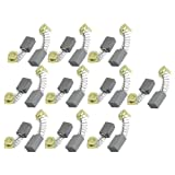 10 Pair 16 x 11 x 7mm Power Tool Carbon Brushes for Hitachi 999043