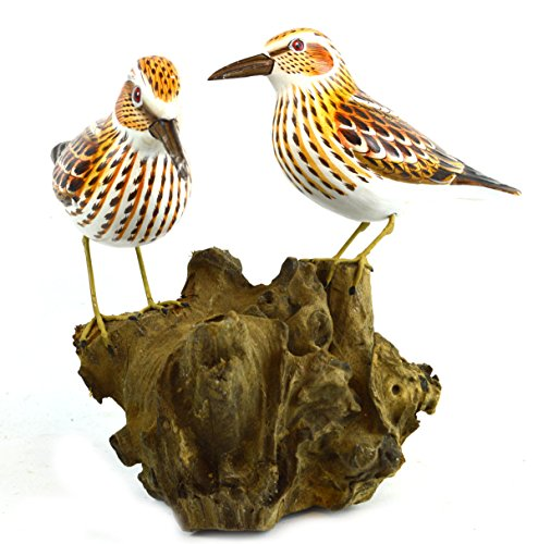 HAND CARVED PAINTED WOOD CARVING SHOREBIRD SANDPIPER BIRD DECOY VINTAGE STYLE