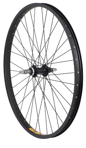Avenir Joytec/Weinmann 36H Nutted Rear Wheel with ZAC30 5-7 Speed Freewheel Hub (Black, 26-Inch x 31mm)