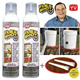 FLEX SHOT Clear - As Seen On TV - 2 pack special $17.99 per JUMBO can + 2 extension tubes
