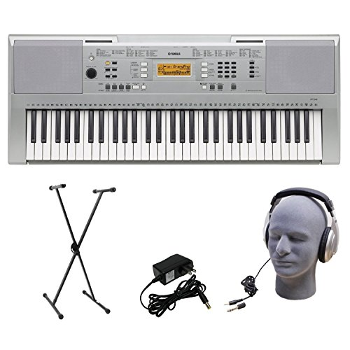 Yamaha Ypt-340 61-Key Premium Keyboard Pack With Headphones, Power Supply, And Stand