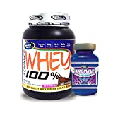 Advance Arginine 200gm& ADVANCE 100% WHEY 25gm Protein Per 33gm 1kg Chocolate (Combo Offer)