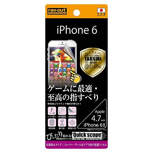 iPhone6/6s  ゲーム&アプリ保護フィルム(アンチグレア) RT-P7FT/G1