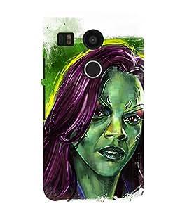 Black American Girl wall Painting 3D Hard Polycarbonate Designer Back Case Cover for LG Nexus 5X :: LG Google Nexus 5X New