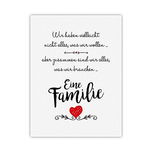 kunstdruck eine familie typografie bild auf hochwertigem karton poster plakat druck. Black Bedroom Furniture Sets. Home Design Ideas
