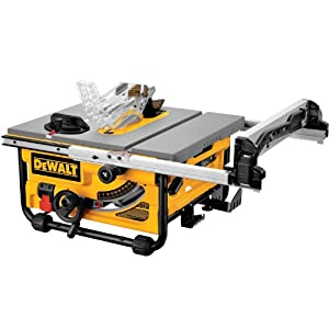 DEWALT DW745 10-Inch Compact Job-Site Table Saw with 20-Inch Max Rip Capacity from DEWALT