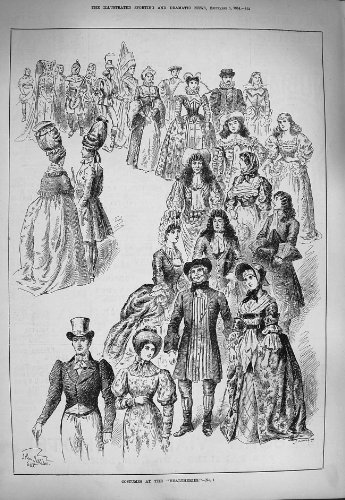 old-original-antique-victorian-print-1884-costumes-healtheries-fancy-dress-ladies-men-662g275