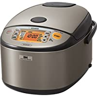 Zojirushi NP-HCC18XH Induction Heating System Rice Cooker and Warmer (Stainless Dark Gray)