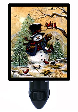 Christmas and Winter Night Light - Winter Friends - Snowman