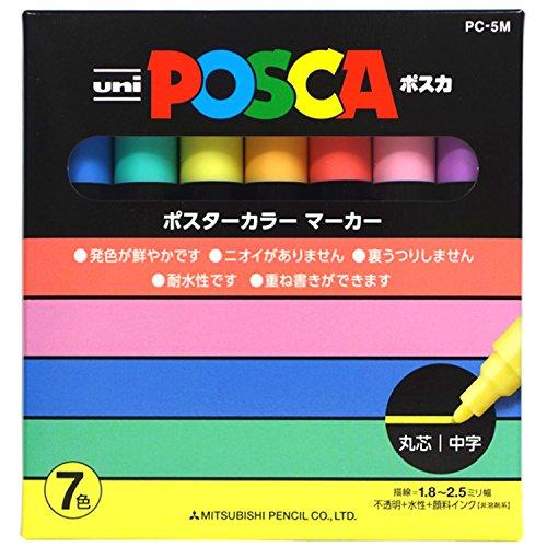 uni-posca-paint-marker-pen-medium-point-set-of-7-natural-color-pc-5m-7c