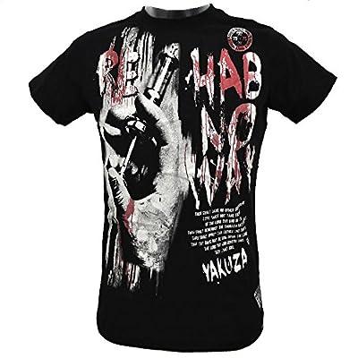 Yakuza Herren T-Shirt Round Neck Rehab No Way TSB 511 schwarz