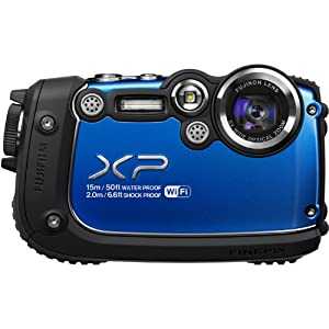 Fujifilm FinePix XP200 Blue 16MP Waterproof Digital Camera with 3-Inch LCD (Blue)